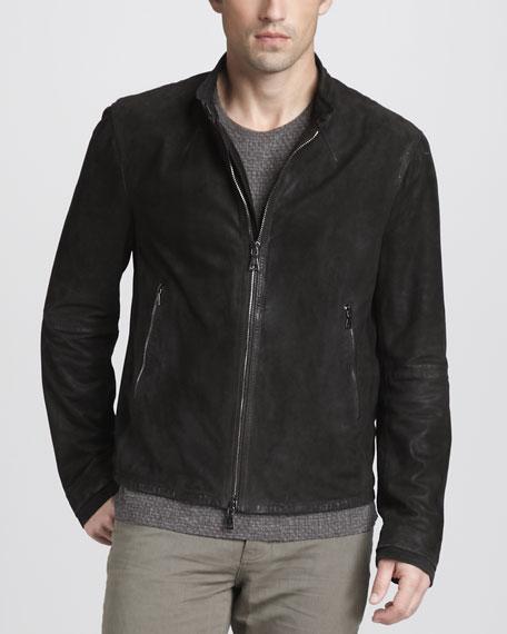 Suede Zip Jacket