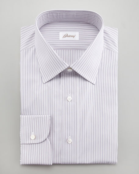 Striped Dress Shirt, Purple