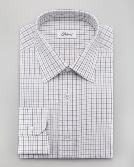 Check Button-Cuff Dress Shirt