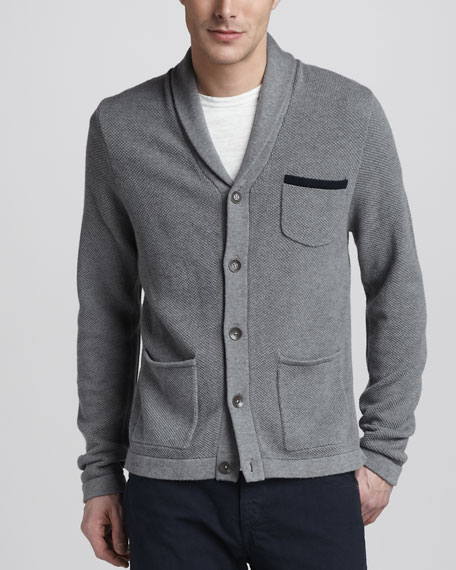 Shawl-Collar Cardigan