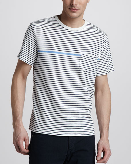 Striped Basic Pocket Tee