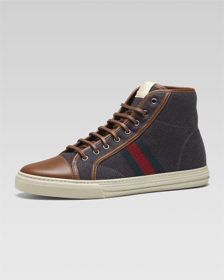 California Hi-Top Web Sneaker, Gray