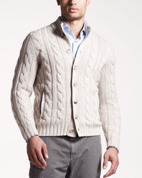 12-Ply Cable Cardigan