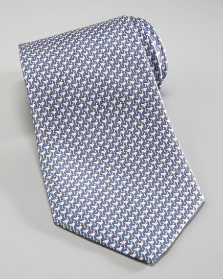 Martini Glasses Tie, Gray