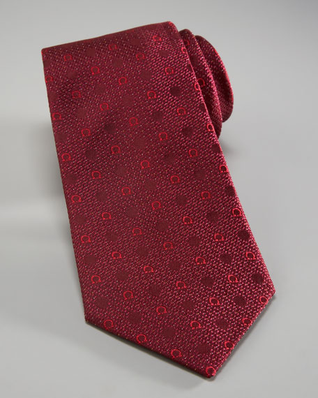 Gancini & Dots Tie, Red