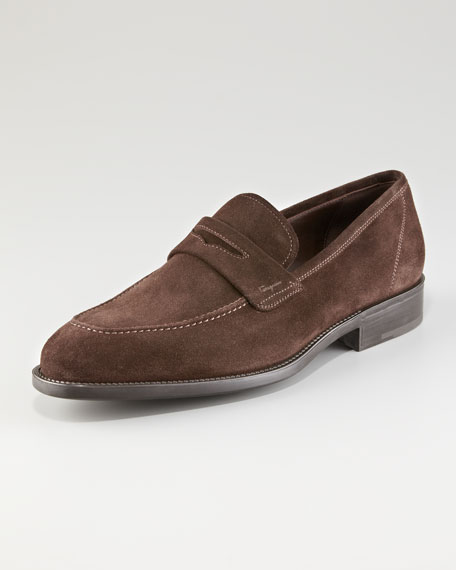 Atlas Suede Penny Loafer
