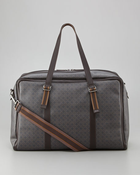 Signature Gancini Pattern Duffel Bag