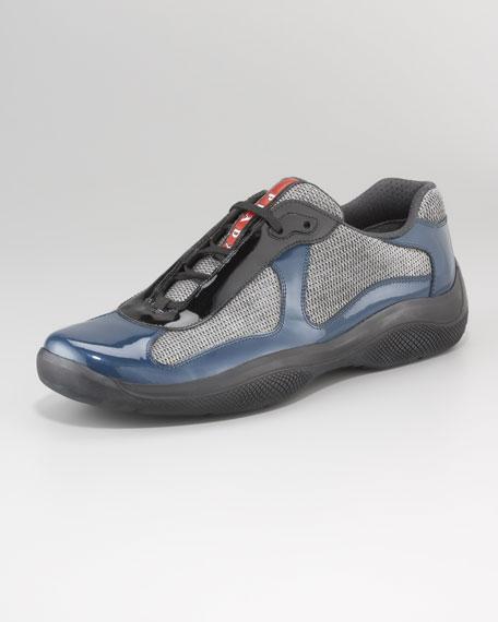 Bicolor Patent Sport Sneaker