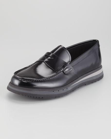 Spazzolato Rubber-Sole Loafer