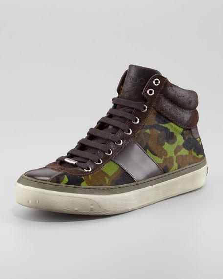 Belgravia Camo-Print Hi-Top Sneaker