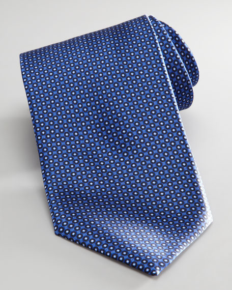 Diamond Circles Tie, Navy