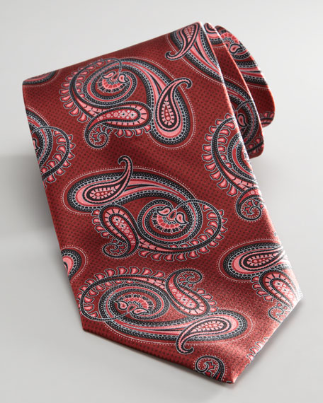 Paisley Tie, Red