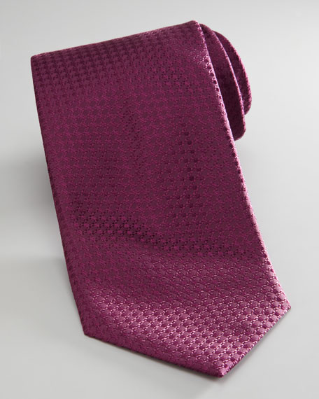 Tonal-Texture Tie, Burgundy