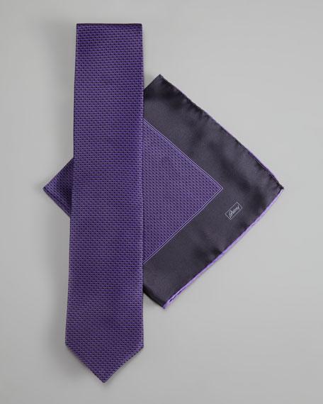 Silk Tie & Pocket Square Set, Purple