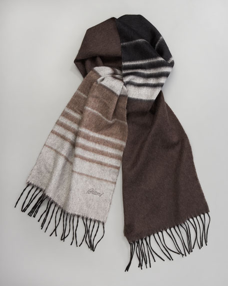 Ombre-Striped Scarf