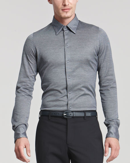 Diagonally Woven Shirt