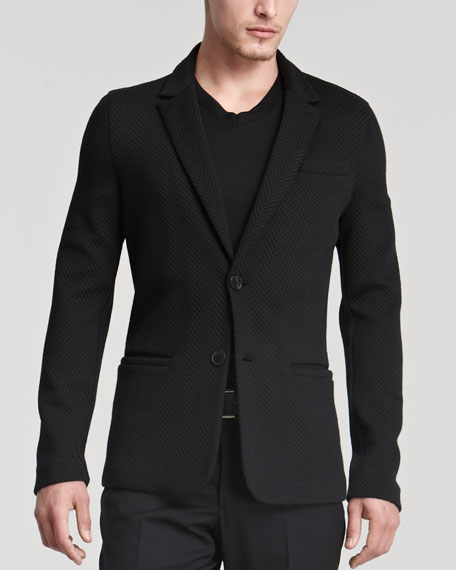 Herringbone Jacket, Black