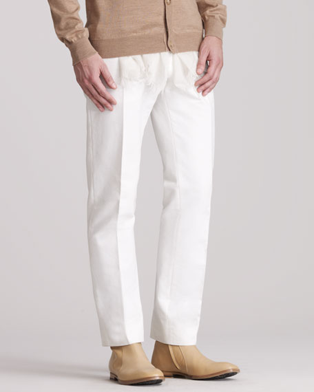 Trousers, White