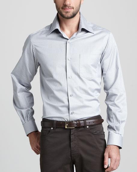 Small-Check Sport Shirt
