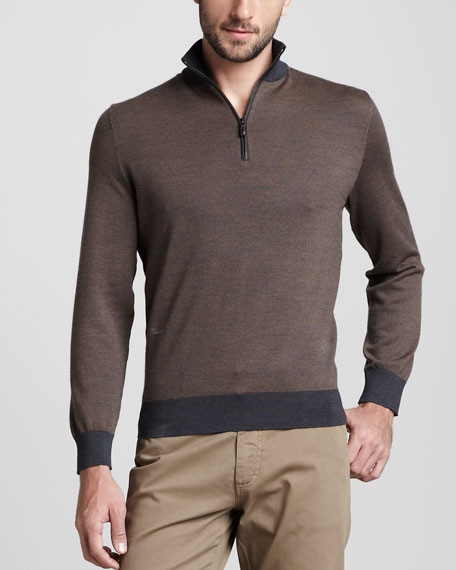 Birdseye Zip Sweater