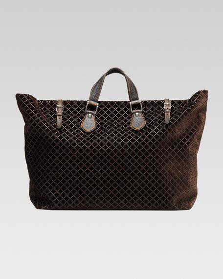 Goldmark Velvet Diamante Tote Bag