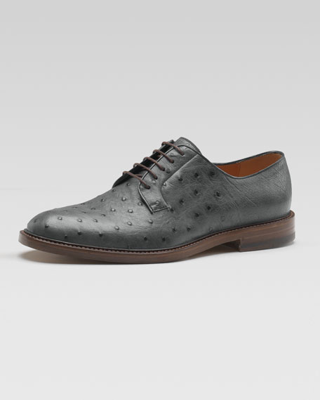 Cezanne Ostrich Lace-Up