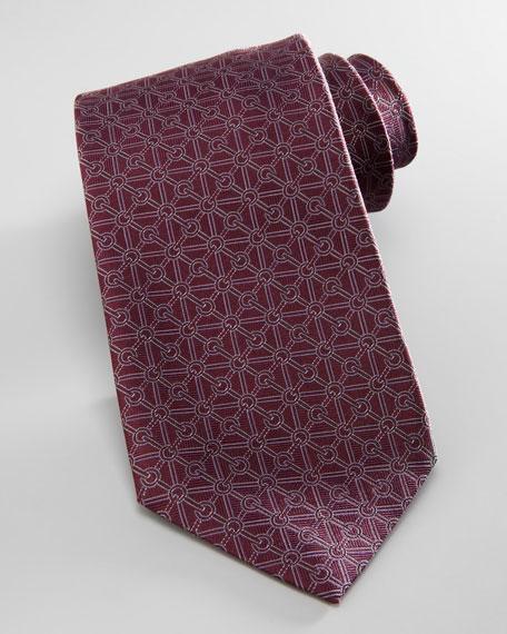 Diagonal G Grid Tie, Dark Purple