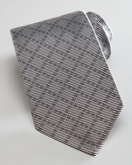 Tonal Diagonal Grid Tie, Graphite