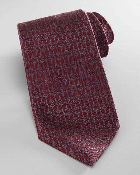 Vertical Horsebit Tie, Red