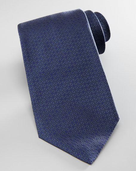 Tonal Mini Bit Tie, Sapphire