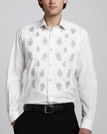 Paisley-Embroidered Shirt