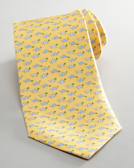 Striped Turtles Tie, Yellow