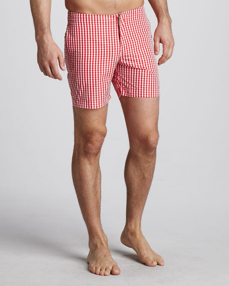 Beagle Surf Shorts, Red