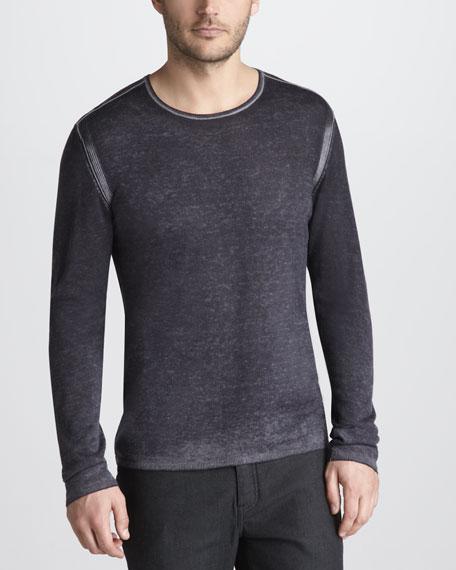 Reverse-Print Sweater
