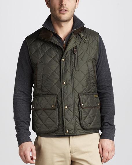 Epson Quilted Vest, Dark Olive