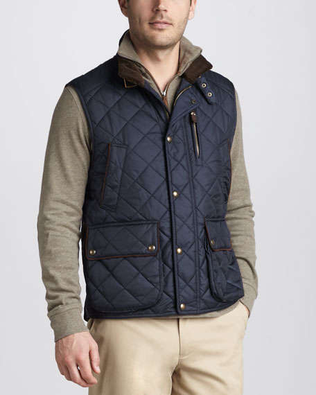 Epson Quilted Vest, Aviator Navy