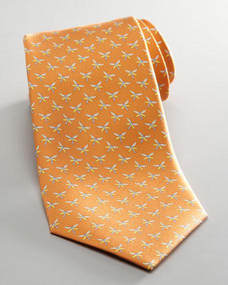 Dragonfly Jacquard Tie, Orange