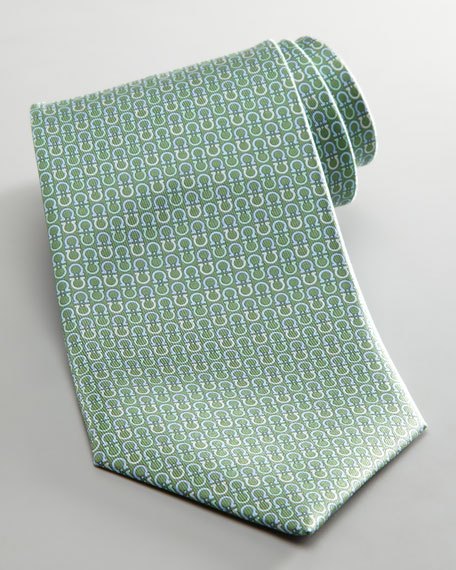 Alternating Gancini Tie, Green
