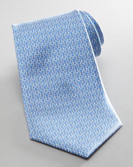 Alternating Gancini Tie, Blue