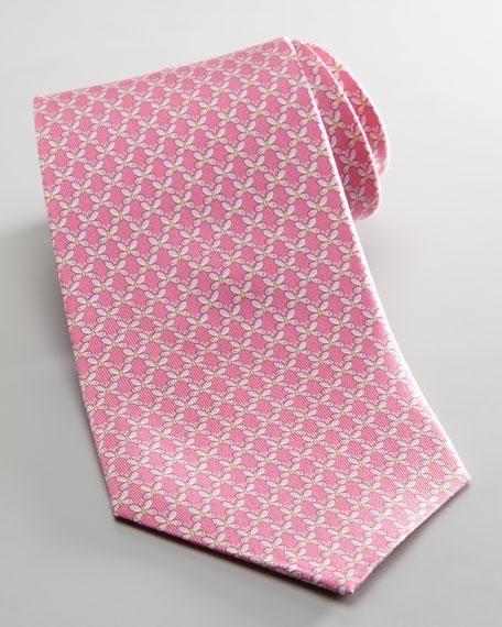 Butterfly Jacquard Tie, Fuchsia