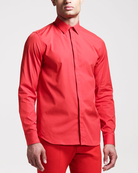 Cuban-Fit Poplin Shirt
