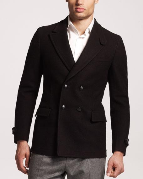Peak-Lapel Pea Coat
