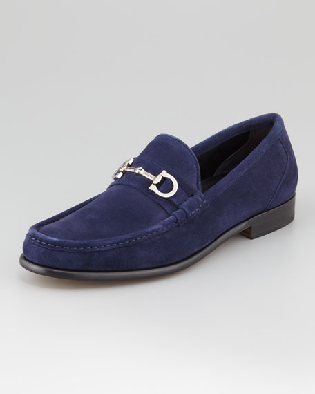 Giostra Suede Loafer, Navy