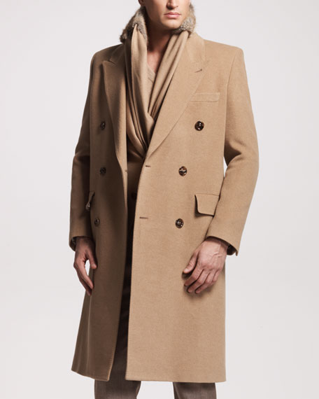 Camel Hair Double-Breasted Coat