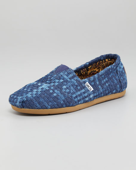 Woven Denim Slip-On