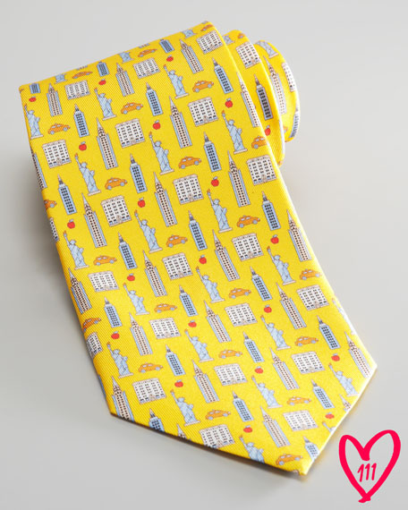 BG 111th Anniversary Icon Tie, Yellow