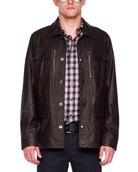 Leather Utility Jacket