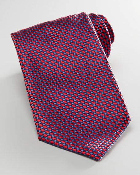 Weave Tie, Navy/Red
