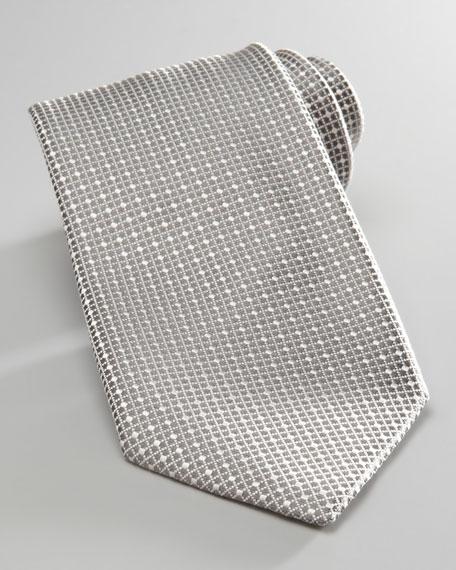 Tonal Grid Tie, Gray