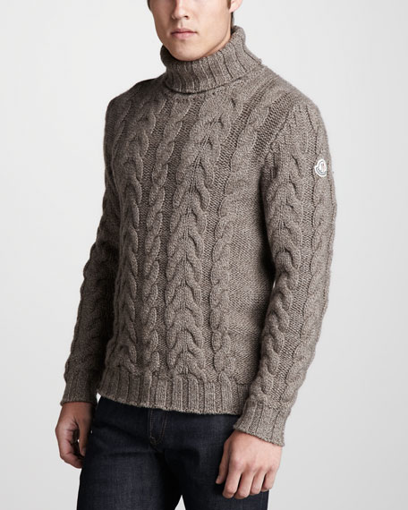 Cable-Knit Turtleneck